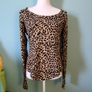 Betsey Johnson Leopard Print Sweater